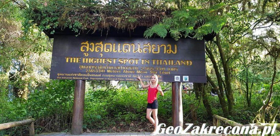 Doi Inthanon - najwyższy szczyt Tajlandii